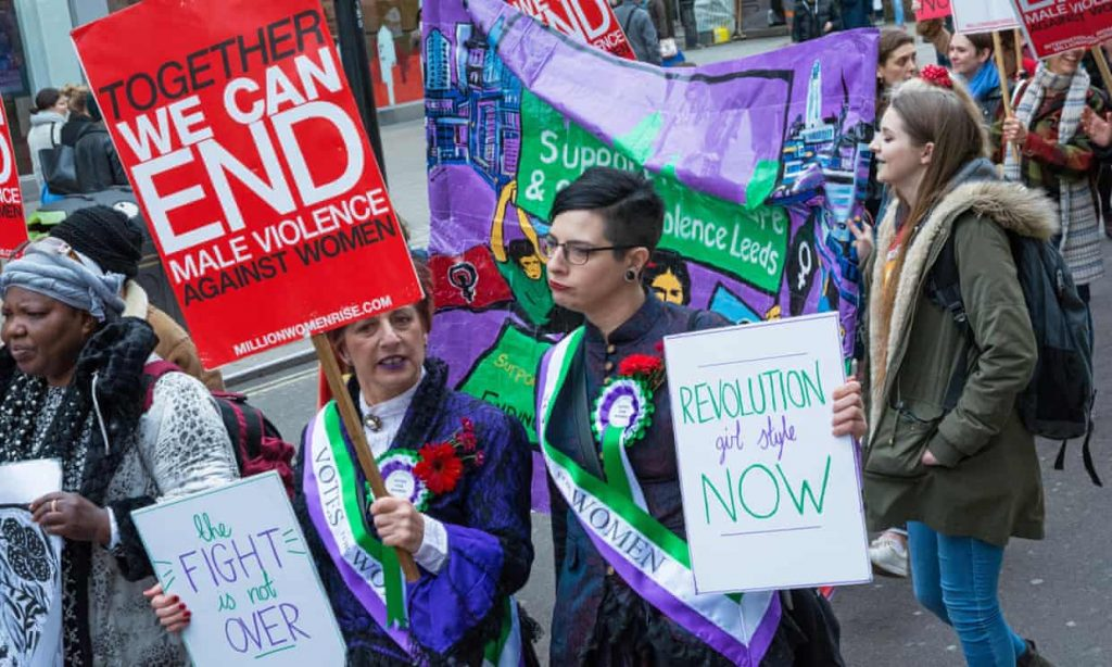 Demonstrators at the Million Women Rise march against violence against women in London this year. Photograph: Stephen Bell/Alamy Stoc
