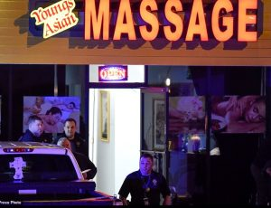 Young's Asian Massage where a gunman opened fire before targeting two similar sites